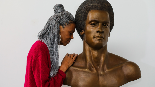 Huey P. Newton Bust Unveiled In West Oakland