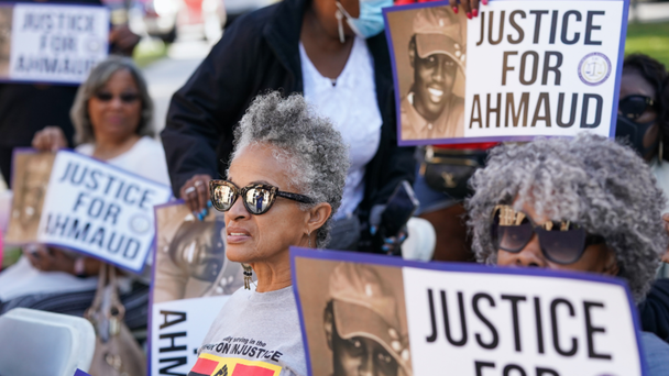 Judge Rules 'Justice For Ahmaud' Signs Can Remain Outside Courthouse