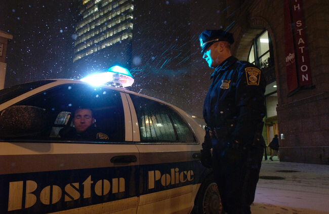 Boston Police Patrol Amid Possible Terror Threat (Credit: Photo by Jodi Hilton/Getty Images)