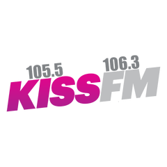 Kiss FM 105.5 and 106.3 logo