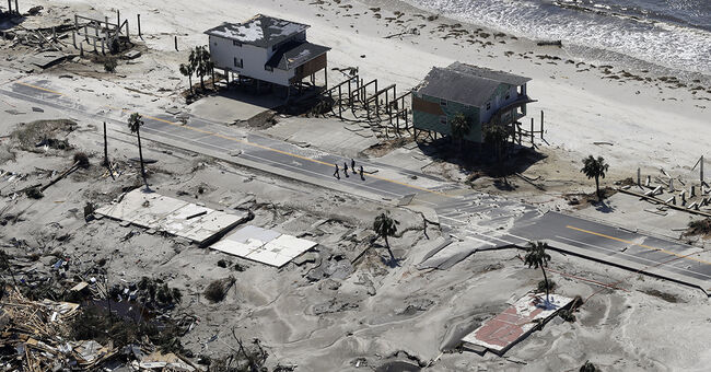 hurricane michael mexico beach florida damage