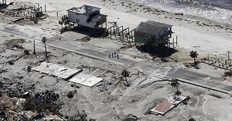 hurricane michael mexico beach florida damage