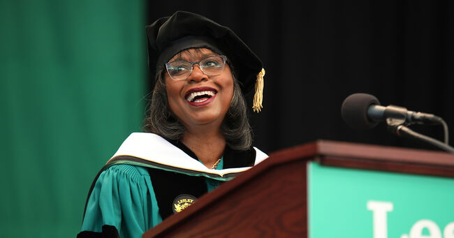 Anita Hill Gives Lesley University Commencement Address