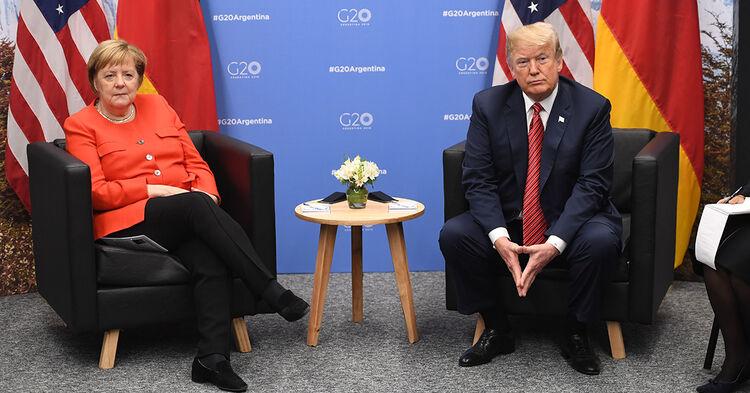 Trump And Merkel At G20 Summit