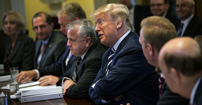 president donald trump cabinet meeting