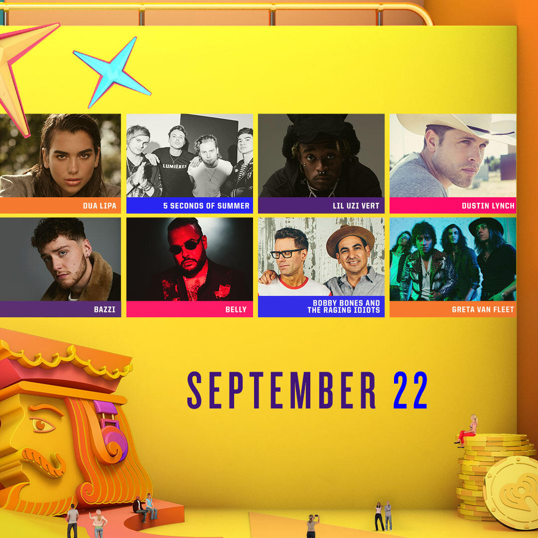 Lineup for the Daytime Stage at the 2018 iHeartRadio Music Festival