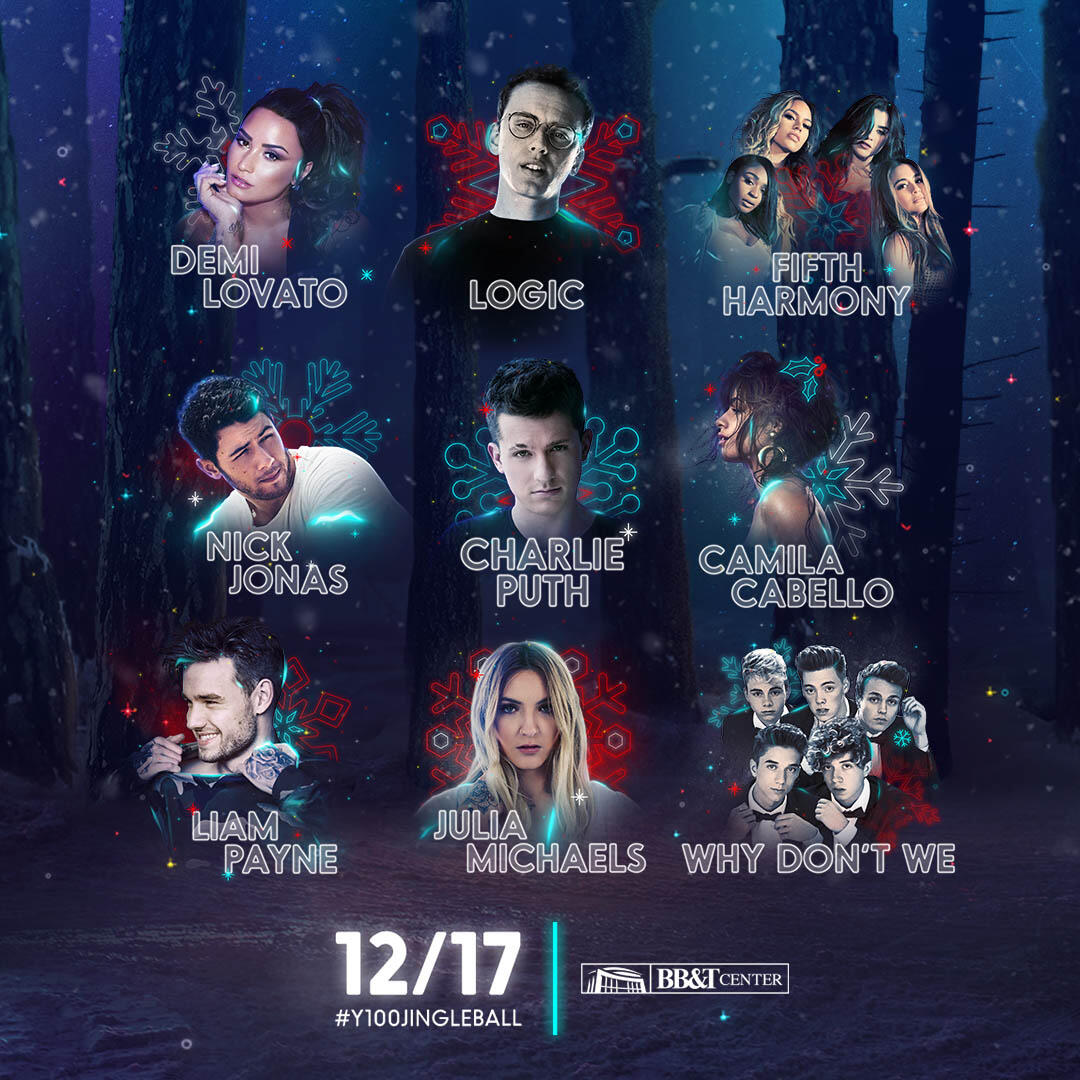 Lineup for Y100's Jingle Ball Presented by Capital One