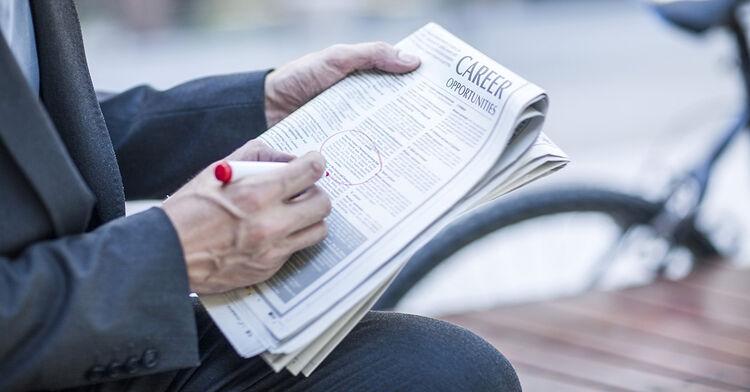 jobs job hunt newspaper careers career opportunities stock generic istock getty economy business