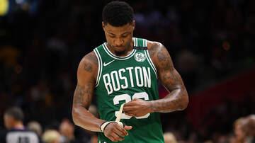 The Greek - Marcus Smart has Interesting Attire Before Celtics' Practice.