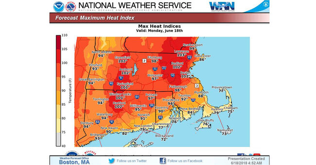 nws heat indices june 18 heat wave