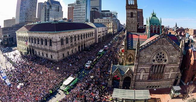 patriots nfl new england super bowl parade overhead