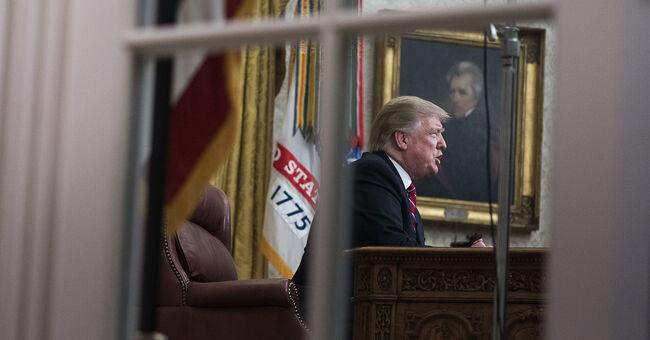 president donald trump oval office address border security