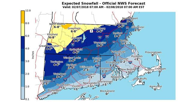 national weather service winter snow ice feb 7