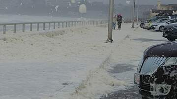 Local News - Sea Foam Spills Over Onto Nantasket Avenue In Hull