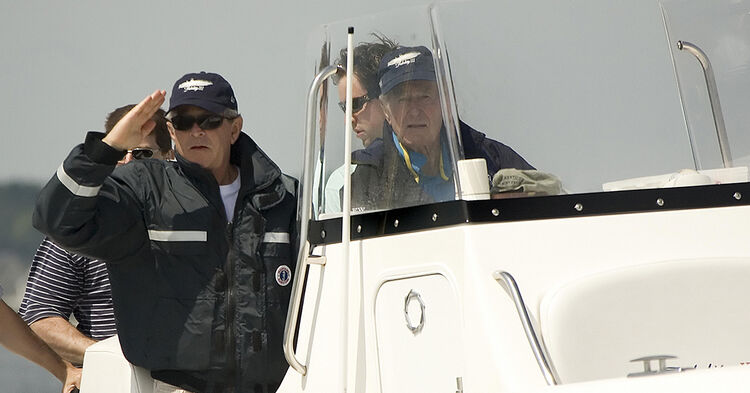 George H.W. Bush in Kennebunkport, ME