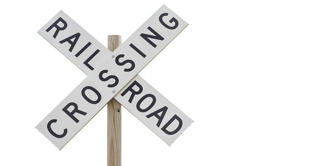 train crossing railroad sign generic istock stock