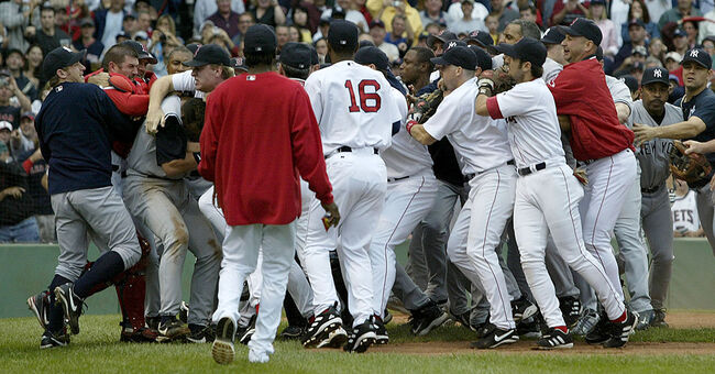 red sox yankees 2004 fight brawl