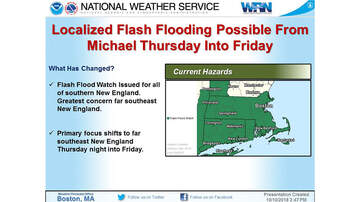 Storm Center - Southern New England Under Flash Flood Watch From Michael