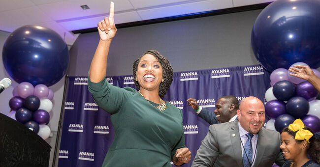 ayanna pressley election night primary