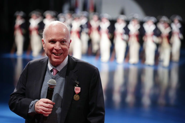 U.S. Military Holds Special Twilight Tattoo Performance In Honor Of John McCain