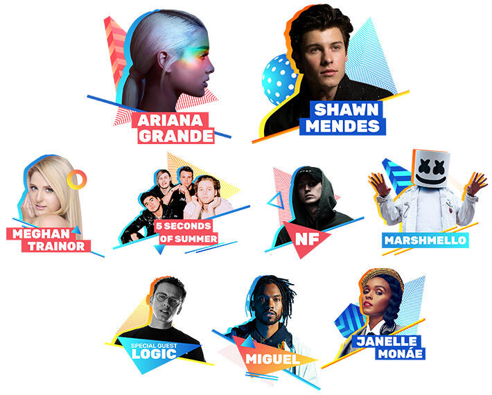 Lineup for 2018 iHeartRadio Wango Tango by AT&T