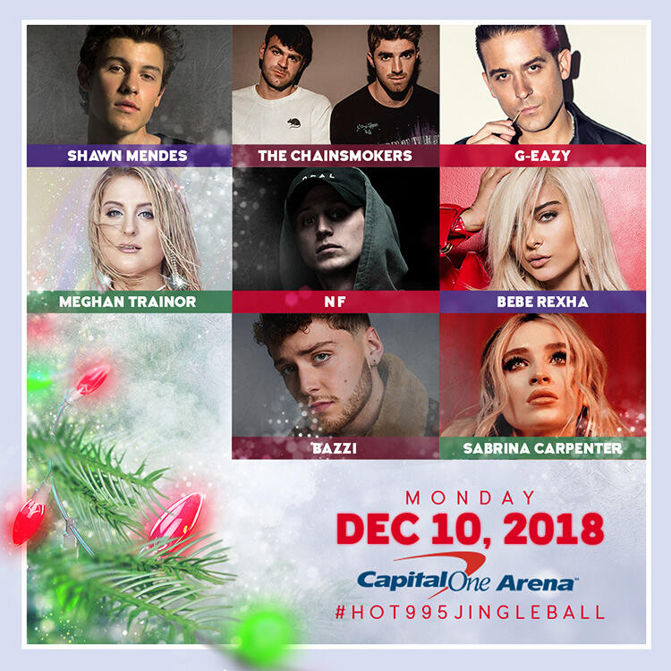 Our 2018 #HOT995JingleBall Lineup