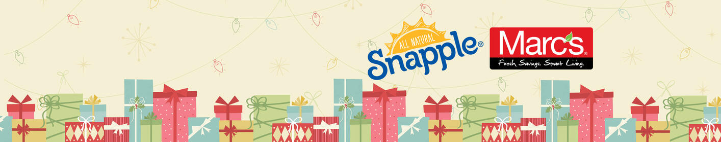 Take a Break from Your Holiday Bills with $1,000 from Snapple and Marc's!