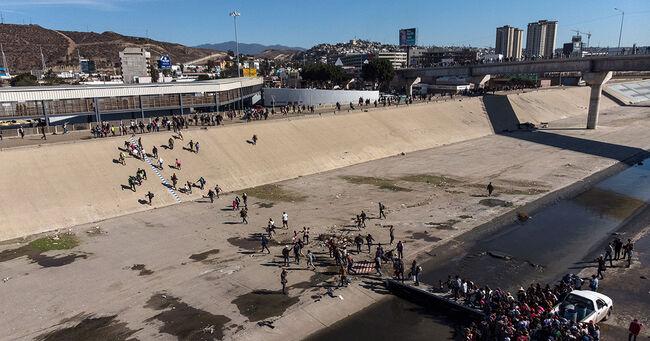 Mexico Border Tijuana River
