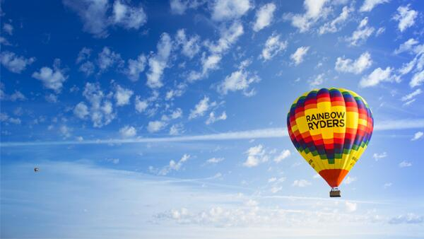 Hot Air Balloon Ride for two from Rainbow Ryders