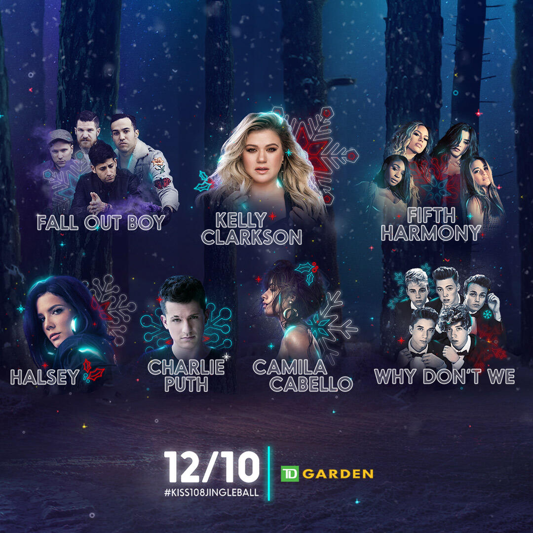 Lineup for the Kiss 108's Jingle Ball Presented by Capital One