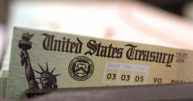 US Treasury Refund Check