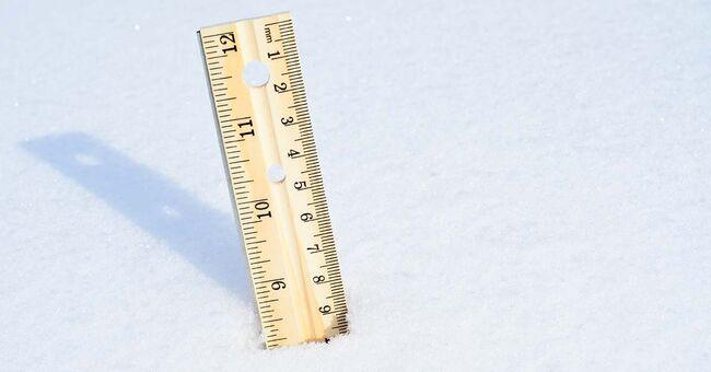 snow totals measuring measure measurement winter