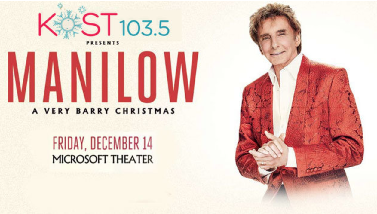 KOST 103.5 Presents: Barry Manilow – A Very Barry Christmas! | KOST ...