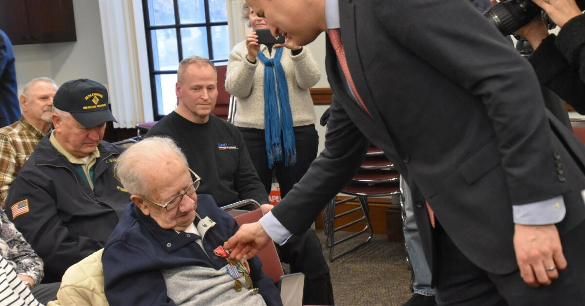 Somerville WWII Veteran Receives Medals Earned Nearly 80 Years Ago