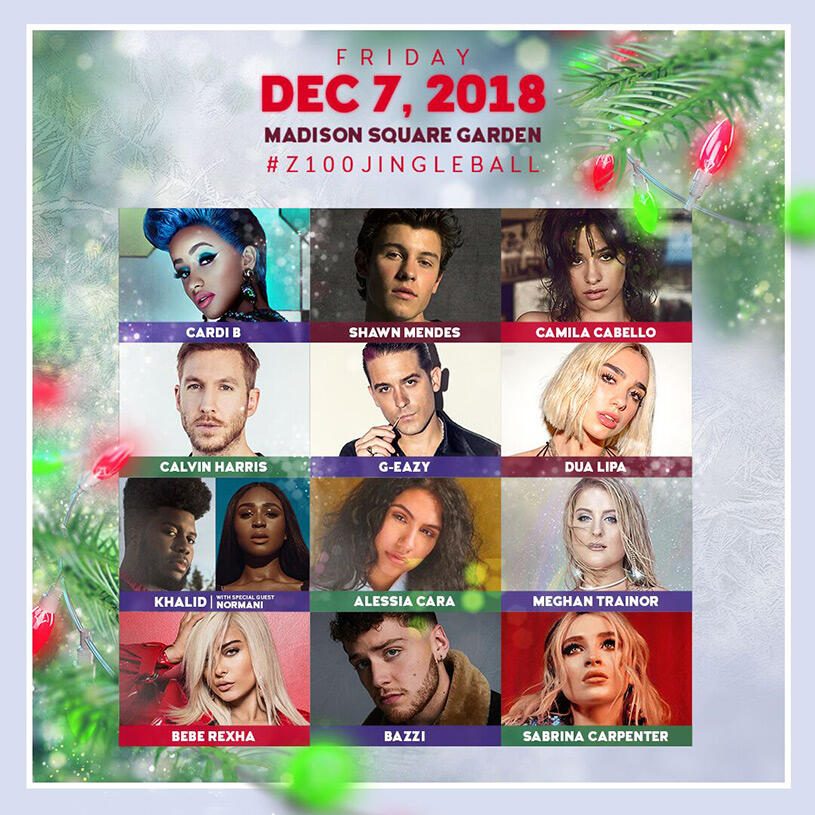 Our 2018 #Z100JingleBall Lineup