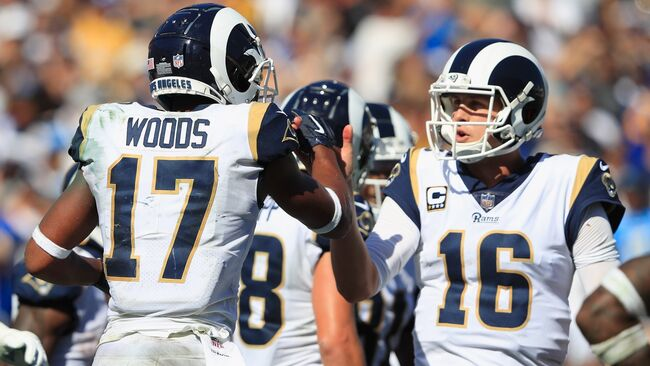 Jared Goff and Robert Woods 1600