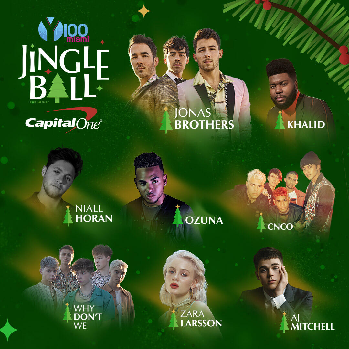 2019 #Y100JingleBall Lineup