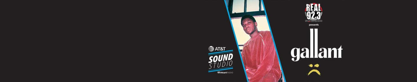 Enter for a chance to win a pair of passes to see Gallant Live inside our AT&T Sound Studio!