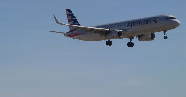 airplane air travel american airlines plane