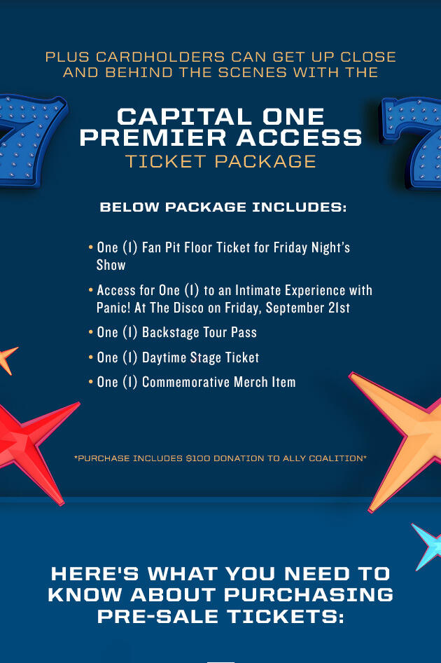 Capital One Premier Access Ticket Package