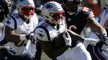 Boston Sports - Patriots Rookie Sony Michel In Line To Play Sunday