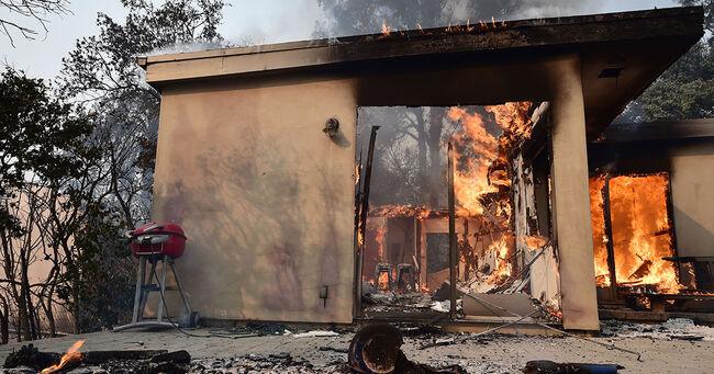 Malibu Home On Fire