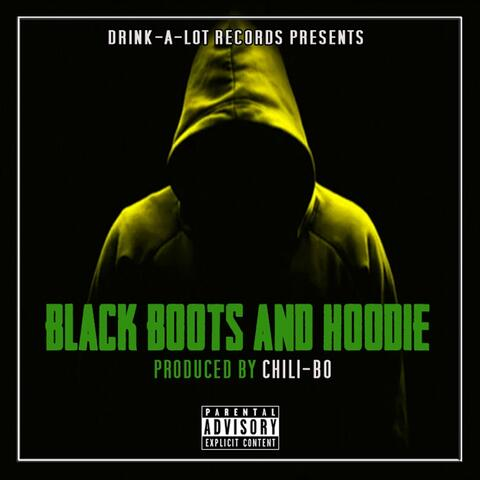 Black Boots and Hoodie