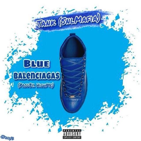 Blue Balenciagas