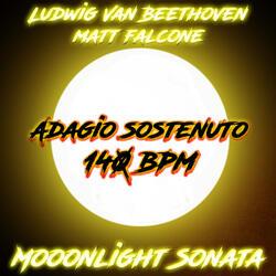 Moonlight Sonata Adagio Sostenuto 140 BPM
