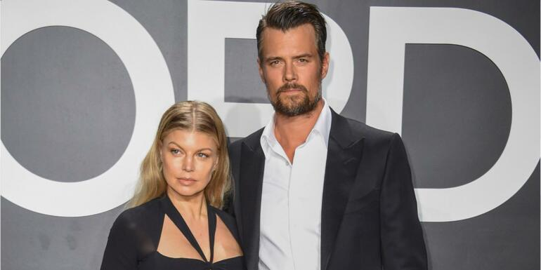 Josh Duhamel Visits Fergie With Roses Amid National Anthem Backlash