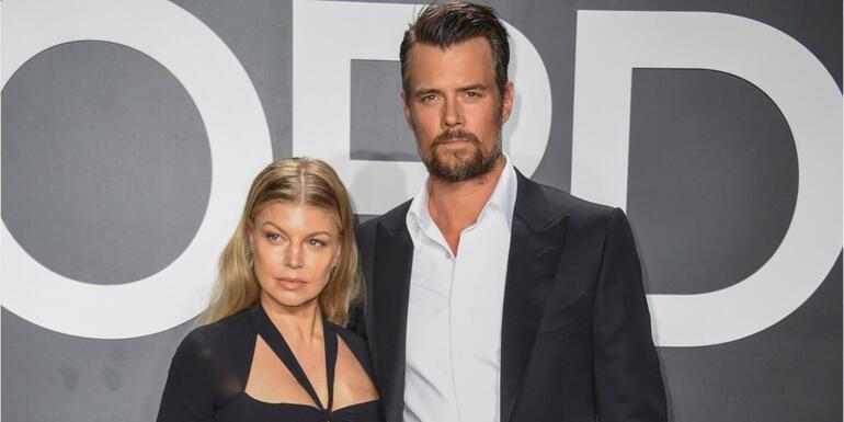 Josh Duhamel Visits Fergie With Roses Amid National Anthem Backlash