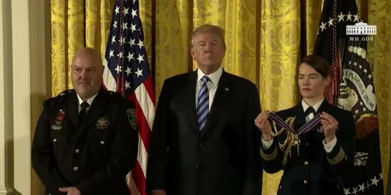 President Trump Awards Public Safety Medals
