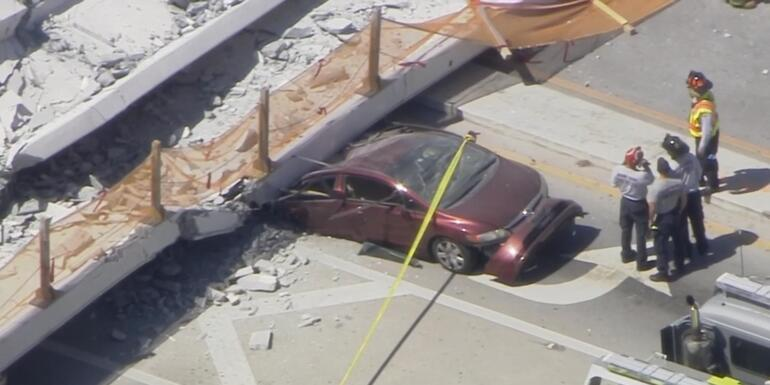 At Least Four People Dead After Pedestrian Bridge Collapses Near FIU