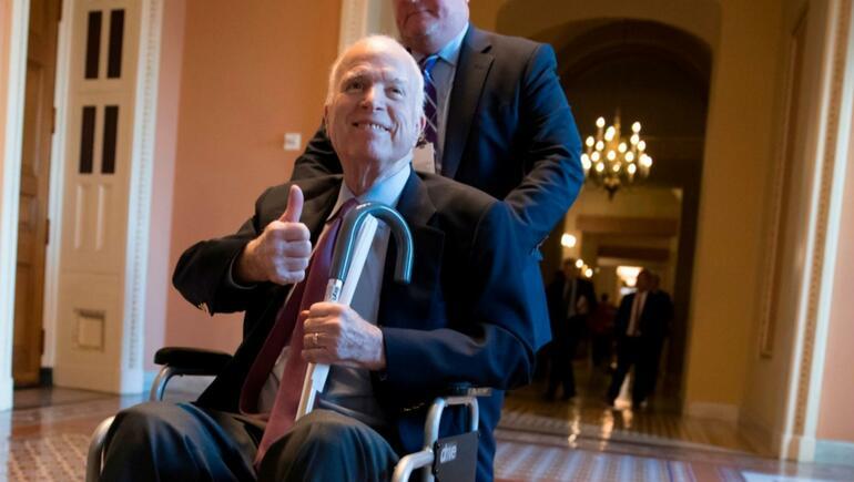U.S. Senator John McCain Home From Hospital